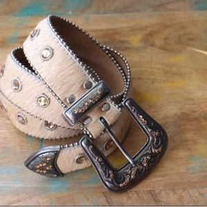 leatherock embellished crystal western belt